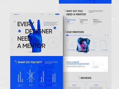 Supermentor/ Landing page design creative cinema4d 3d illustration landing uxui ux web-design ui web design