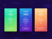 UI Pricing table