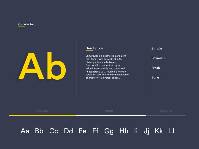 Circular Font by Olya | Dribbble | Dribbble