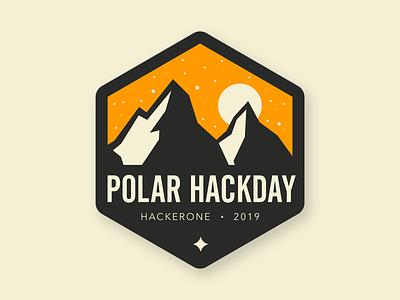 POLAR DAY snow flat nature day polar typography branding badge vector hackday logo logo design illustration