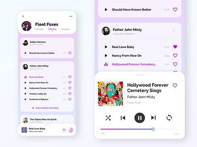 DISCOVER - detail player slider father john misty user interface ui design music app ui music app music player app music player mobile app mobile ui mobile ui ios app design