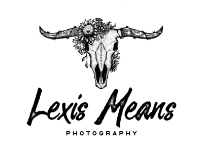 Lexis Means photography design barbwire animal horn photography flower skull vintage hand-drawn rustic illustration detailed drawing logo