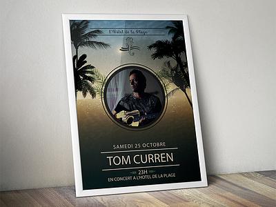 Concert de Tom Curren illustrator photoshop crea affiche tom curren poster print