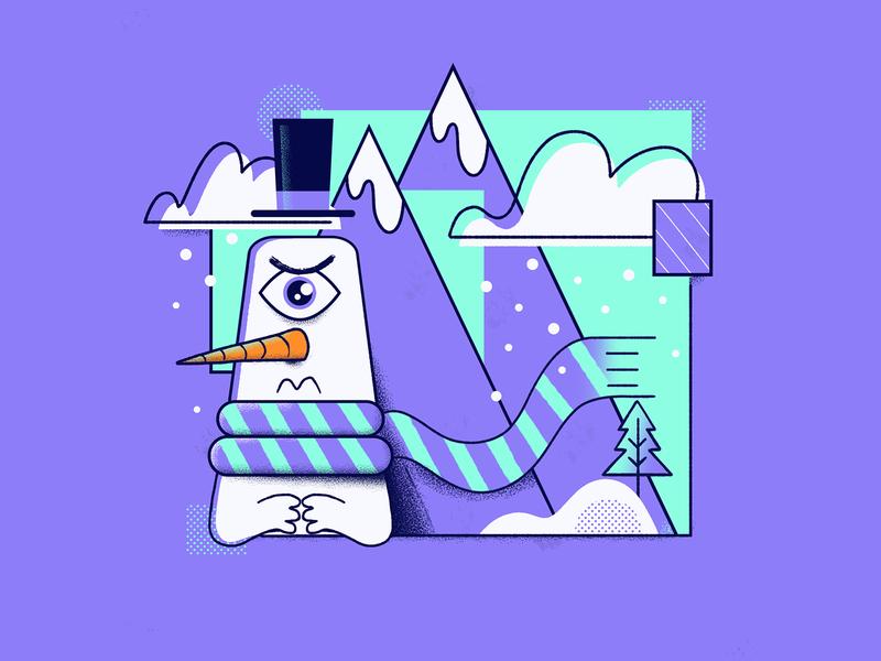 Snowman freezing cold christmas card snowdoll snowcone snowman character snow man scarf mountains snow landscape snow christmas illustration christmas character christmas merry christmas snowman