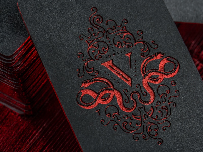 V Group Etched Business Cards by Device - Dribbble