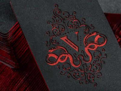 V group etched business cards by device dribbble v group etched business cards colourmoves Images