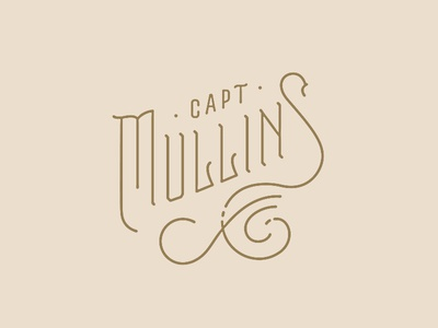 Capt Mullins Alt logo dining appalachian identity logo restaurant