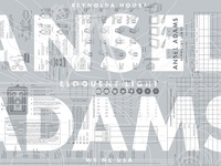 Ansel Adams Exhibition Poster