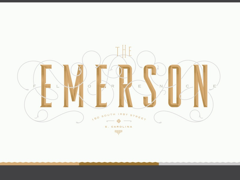 Emerson Main Logo ornament flourish logo upscale boutique apartments emerson