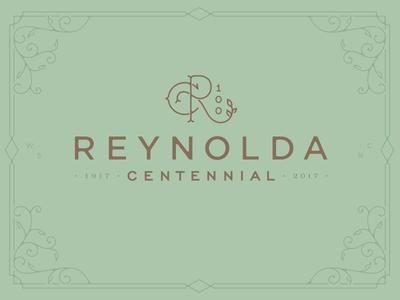 Reynolda Centennial Logo device monogram 100 centennial reynolda identity logo