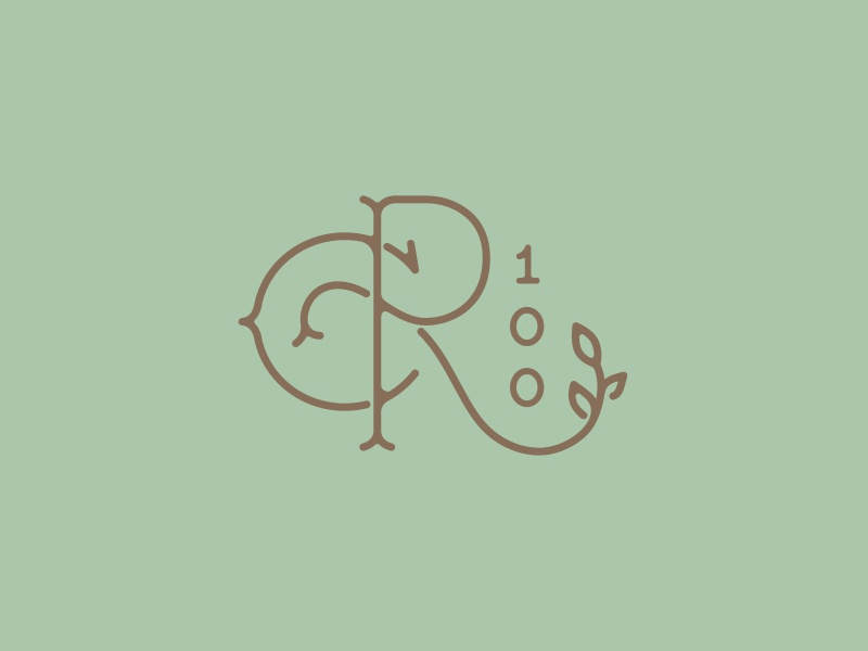 Rh cent monogram