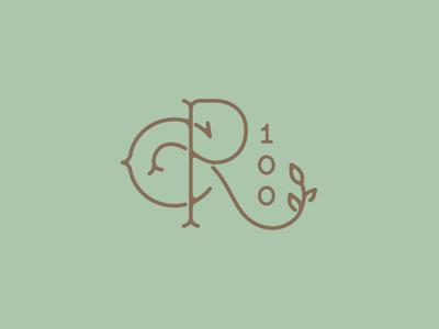 Reynolda Centennial Monogram north carolina nc winston salem 100 centennial reynolda identity monogram