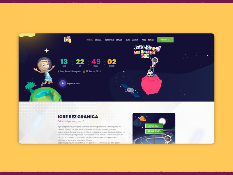 Igre Bez Granica Website website webdesign design codeit