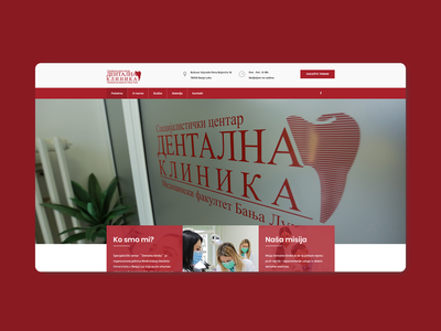Dentalna klinika Website