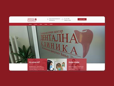 Dentalna klinika Website responsiveweb web dentalclinicwebsite websitedevelopment website webdesign codeit