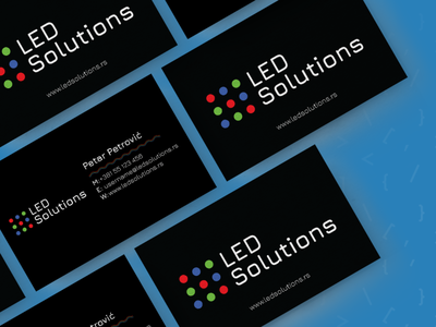 Led Solutions Branding illustrator visitcard branding codeit designit logodesigner logodesign