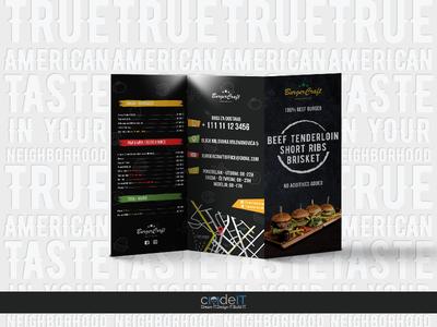 BurgerCraft Logo and Print Design dreamit designit codeit photoshop vector illustrator burger leaflet design