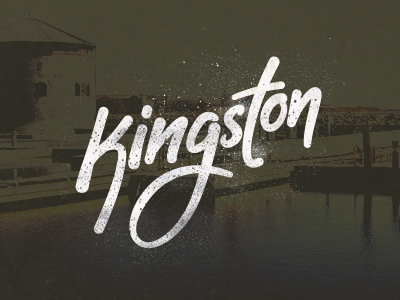 Kingston grunge kingston lettering handwriting script