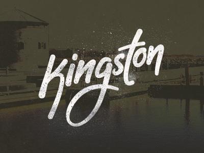 Kingston grunge kingston lettering handwriting script