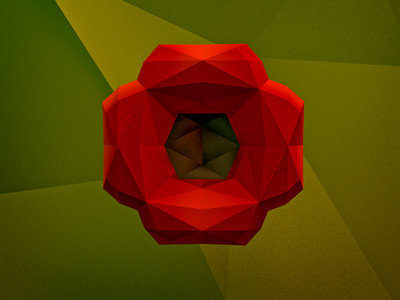 Remember remember rememberance low poly poppy