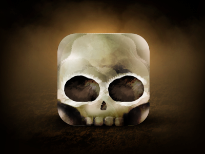 Happy Halloween Skull Icon design ui app scary skull icon square halloween