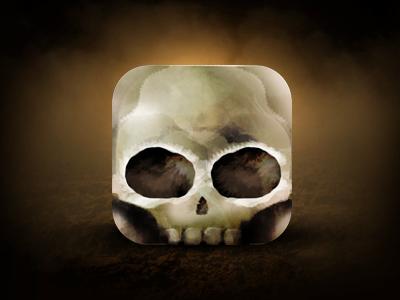 Happy Halloween Skull Icon design ui app scary skull icon square halloween