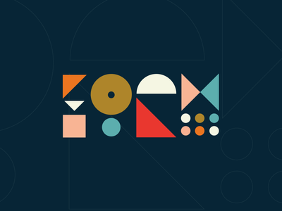 """""""Form"""" abstract typography weekly warm-up geometric shapes letterforms"""