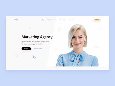 Marketing Agency Template v2 template theme agency marketing landing page clean ux typography website web webdesign ui design