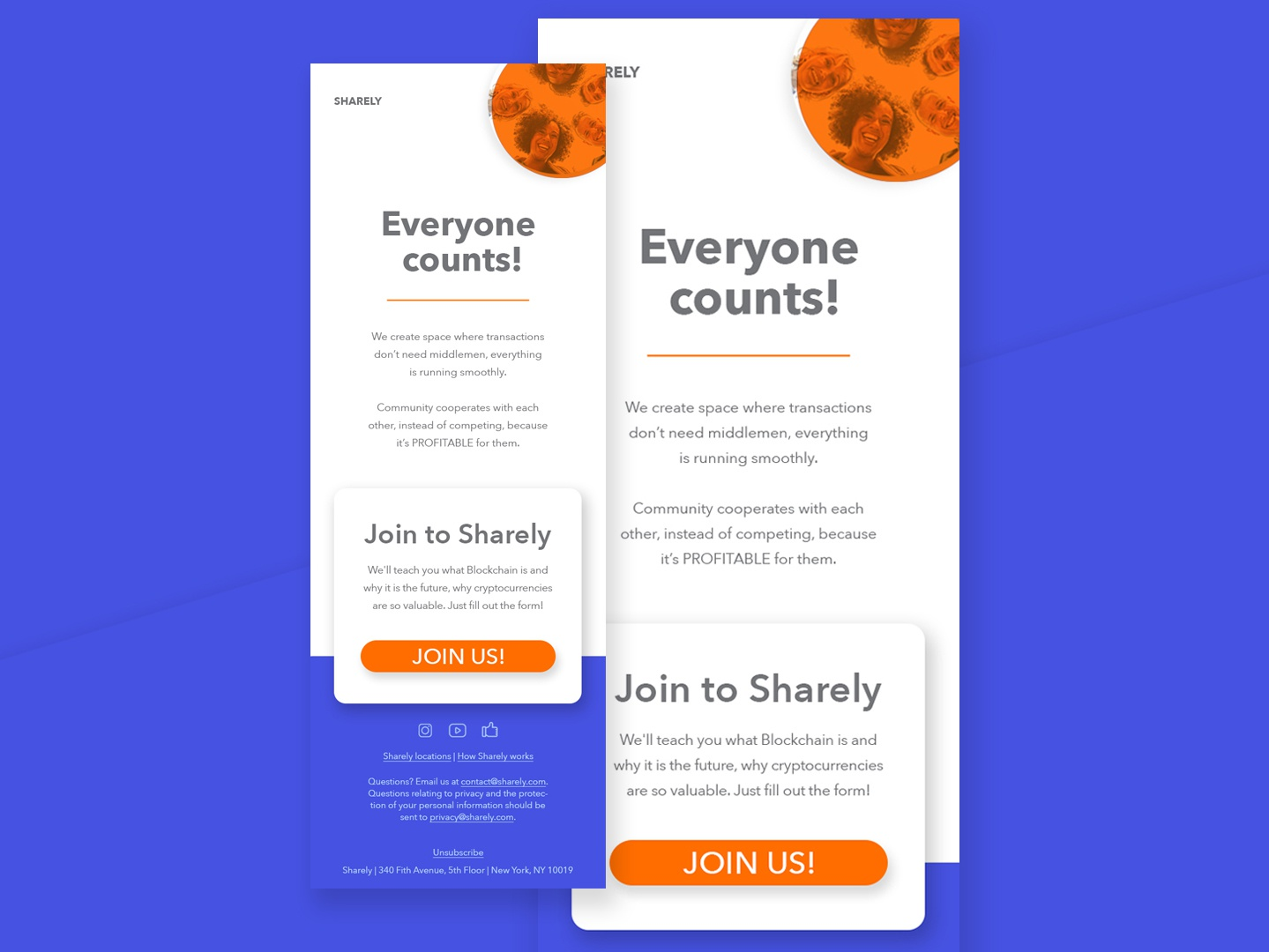 Newsletter Email Design newsletter email campaign email typography e-commerce design ux ui webdesign