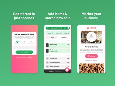 Karma Seller App Views