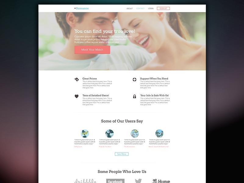 Romance - A Simple & Elegant Theme wordpress icons buttons theme simple flat elements design site website landing page