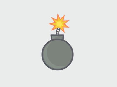 Flat Bomb bomb illustration flat simple