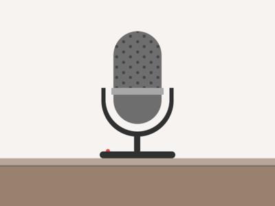 Mic Check, Please! liberio interview illustration microphone simple live desk