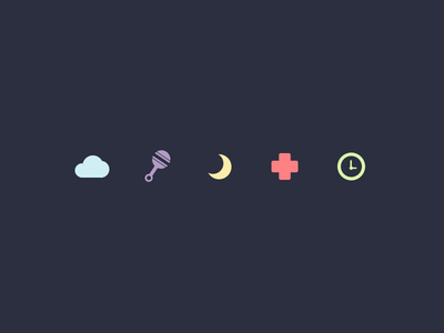 Baby Icons icons baby simple illustration