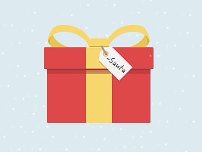 Christmas Gift liberio christmas illustration flat simple gift snow