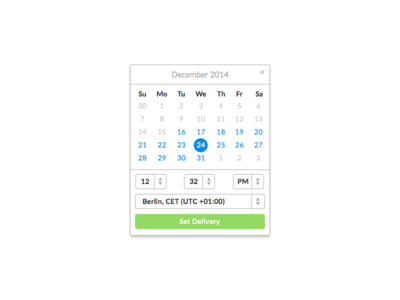 Schedule Gift Delivery liberio simple ui calendar web app