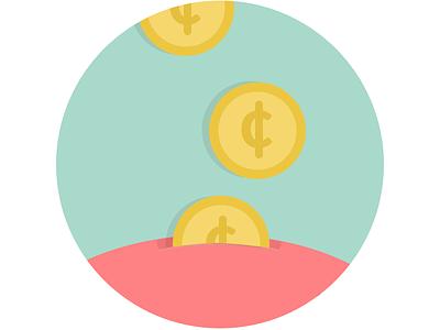 Money In Yo' Piggy Bank! liberio simple illustration bank money piggy bank