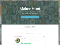 Maker Hunt landing page