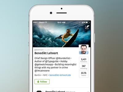Secret-Named iOS Twitter app twitter clean simple ios