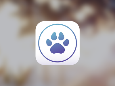 Kira iOS App Icon paw dog ui app ios icon