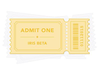 Ticket to Beta illustration ios iris beta