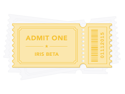 Ticket to Beta illustration ios iris beta