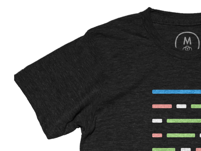 I made a 'Design in Code' shirt pastel code flat design apparel clothing