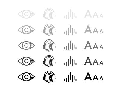 Making Health Accessible illustration icons ios accessibility irishealth iris