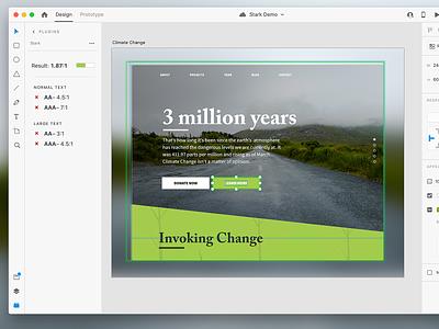 Rapid Contrast Checking in Adobe XD adobe xd accessible design accessibility contrast checking stark web website ui