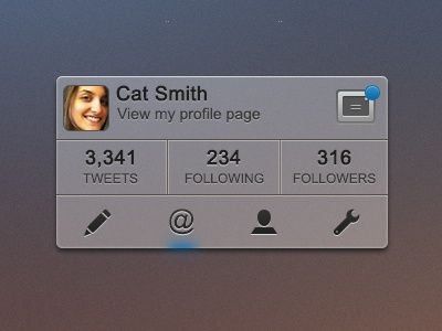 Twitter Interface - Rebound this! twitter social media interface ui ux elements buttons icons