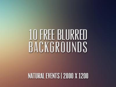 10 (Free) Blurred Backgrounds! free freebie backgrounds blurred colors blurred backgrounds nature gradients debut web logo invite