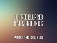 10 (Free) Blurred Backgrounds!