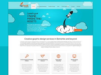 Web design for Big Bark Creative colour theory branding relaunch app design web design ui design ux design