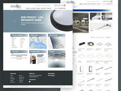 Saxby Lighting design branding user experience web design colour theory ui design ux design